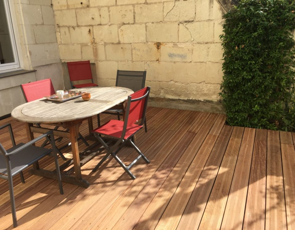 Photo terrasse bois Esnault Paysagiste à Saumur