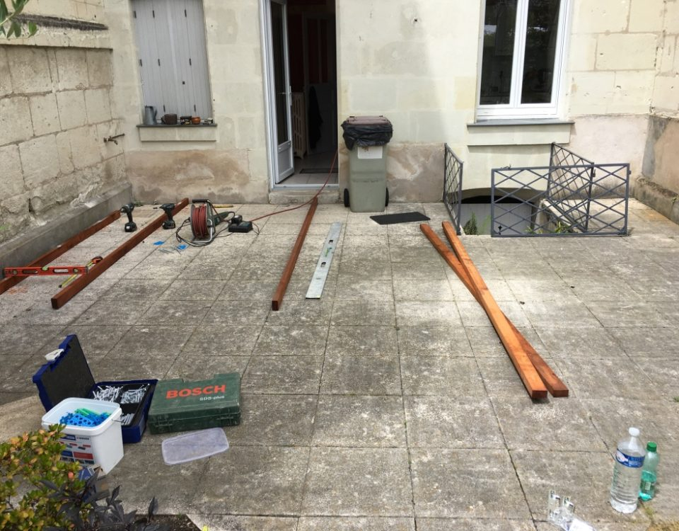 Photo d'une terrasse bois avant par Esnault Paysagiste à Saumur